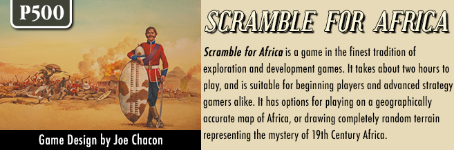 The dangerously uncritical, enthusiastic advertising copy for 'Scramble for Africa'