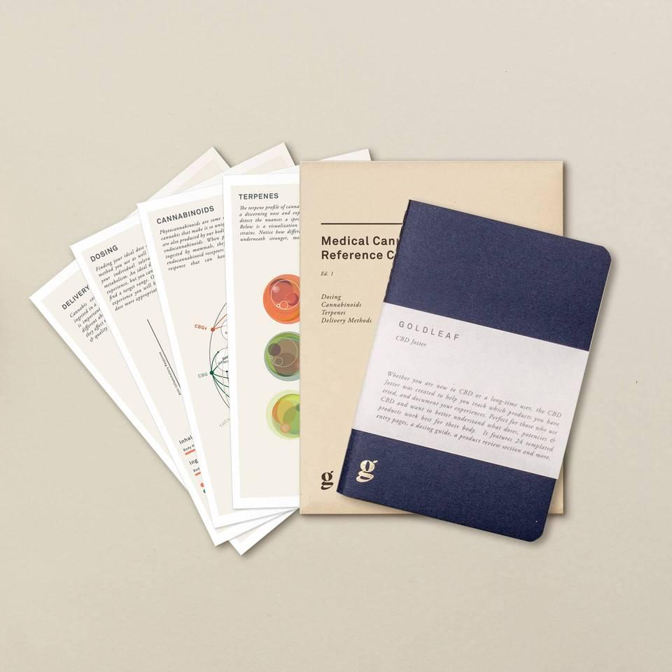 GoldLeaf CBD jotter notebook