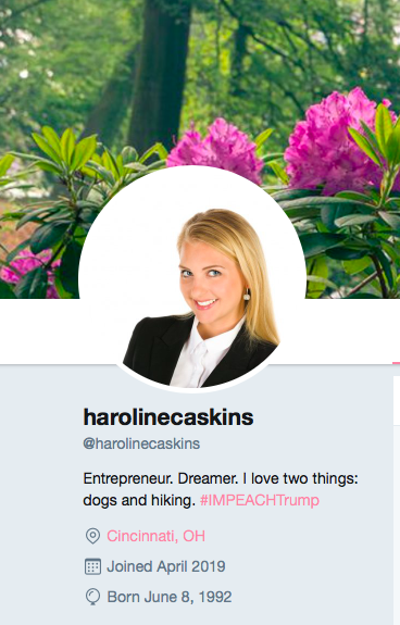 Screenshot, twitter.com/harolinecaskins