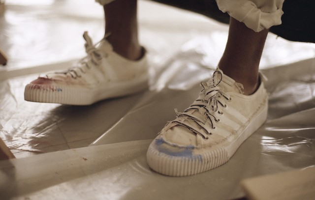 Donald Glover's New Line of Pre Distressed Adidas Claims