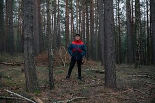 David im Wald außerhalb von Rudolstadt