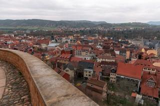 Ein Panorama von Rudolstadt, gesehen von Schloss Heidecksburg
