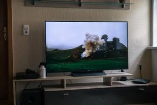 Der Fernseher in Davids Wohnung