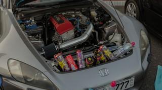 Honda mit Energy-Drinks