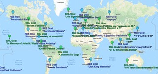 A map with major faction objectives on it shown across the world.