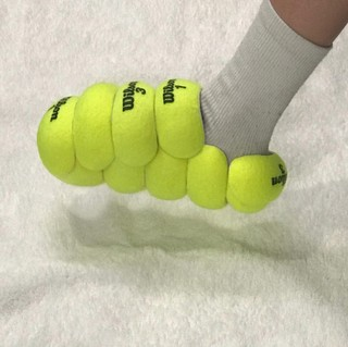 slippers Nicole McLaughlin tennisballen