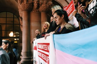 Current and former sex workers, trafficking survivors, and advocates gathered in Albany on Tuesday to support decriminalizing sex work.