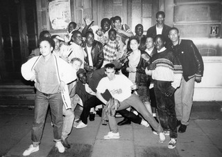 Hip-hop fans in London, 1980s by Normski