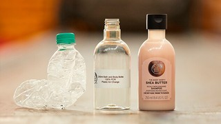The Body Shop Community Trade Recycled Plastic shampoo bottles