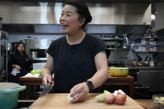 chef mei lin of the restaurant nightshade in los angeles in the munchies test kitchen