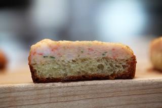a slice of chef mei lin's shrimp toast