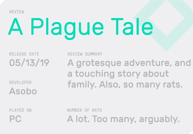 The Grotesque 'A Plague Tale' Has a Great Story (And Too Many Rats