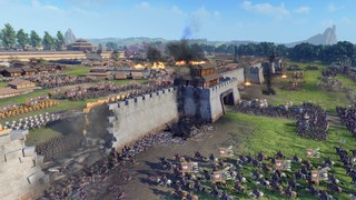 A city being stormed in Total War Three Kingdoms