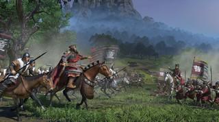 Mortal enemies clashing on a battlefield in Total War