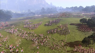 Armies surging on the battlefield in Total War Three Kingdoms