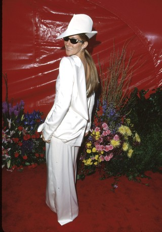 Celine Dion at the Oscars in Dior