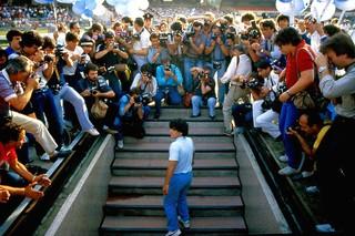 diego maradona naples presentation