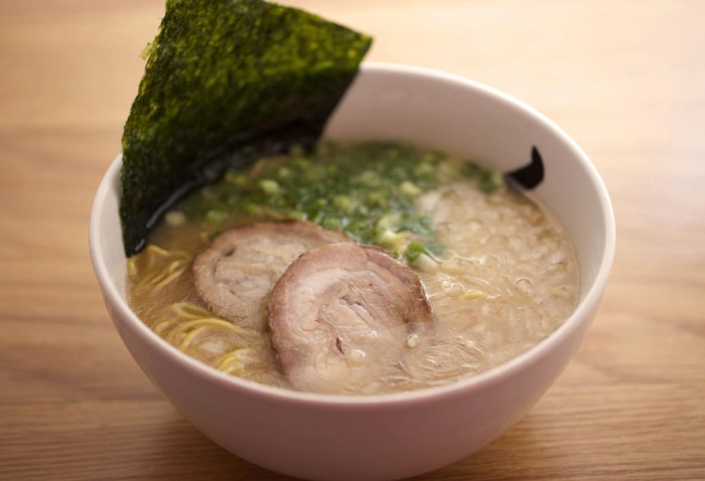 a bowl of pork ramen from hide-chan