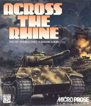 Cover of Across the Rhine, an old wargame