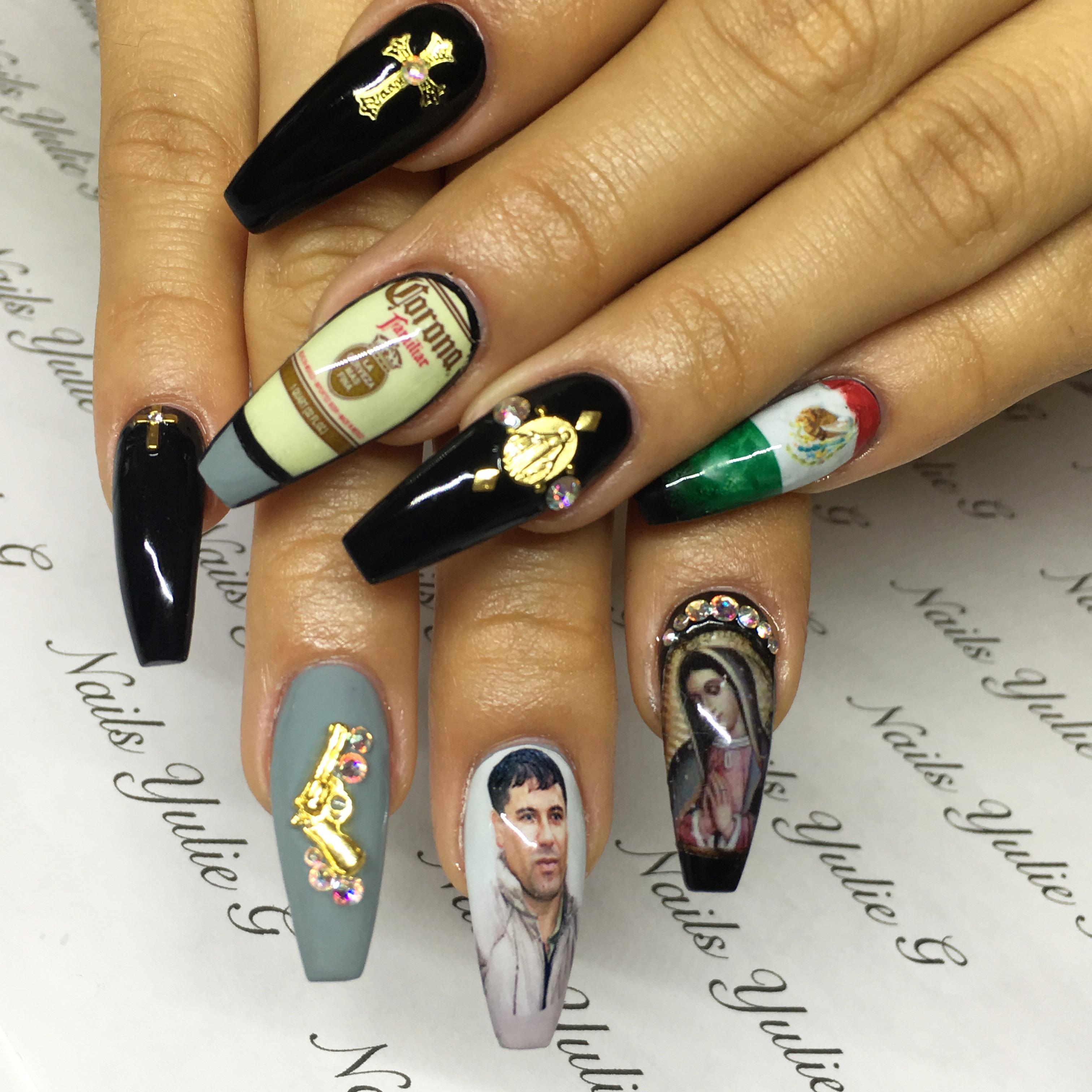 Inside the Ornate World of El Chapo Nail Art - VICE