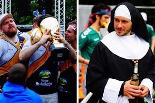 Eine Nonne und ein Pokal