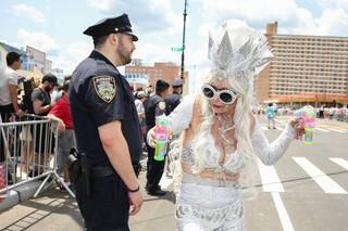 mermaid and cop