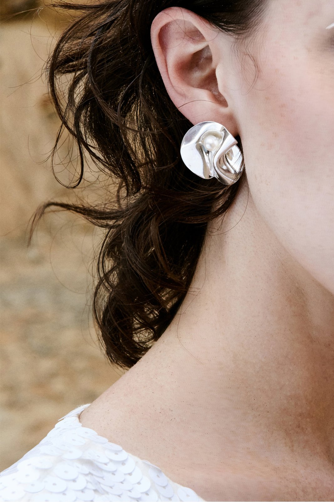 Mother of peal earrings