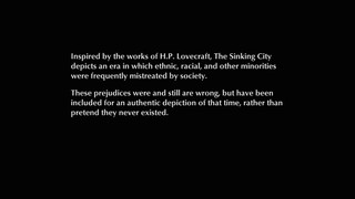 Message about 'The Sinking City' game content