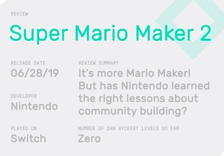 Mario Maker 2' Is Brilliant, But I Hope Nintendo Doesn't