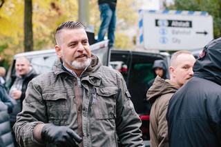 Thorsten Heise auf einer Demonstration