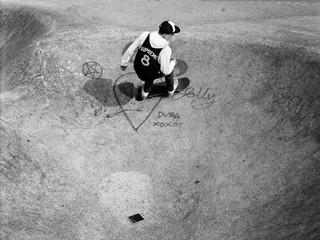 Blondey McCoy skating in Supreme