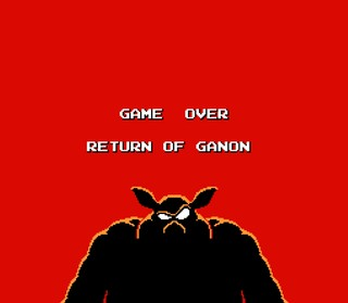 Zelda 2 Return of Ganon Game OVer