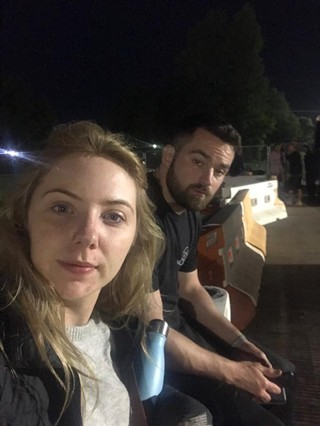 Couple Conor Lynne Glastonbury 2019 and wedding