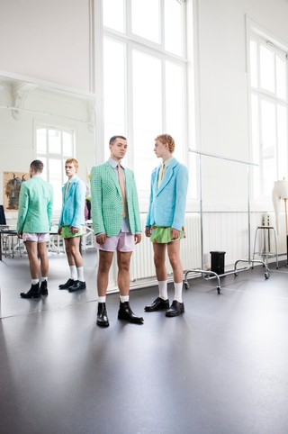 Walter Van Beirendonck archive modelled by students from the Royal Academy of Fine Arts in Antwerp