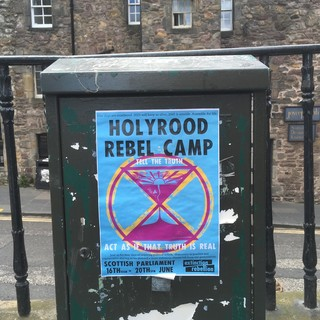 A post for a climate strike action in Edinburgh.