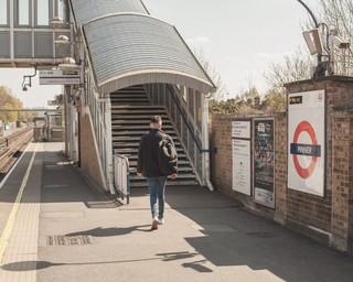 man on pinner train station