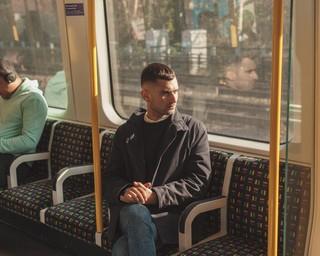 man on tube