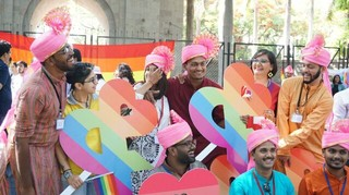 Pride march small town pune