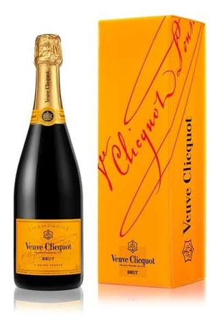 Bottle of Veuve Clicquot