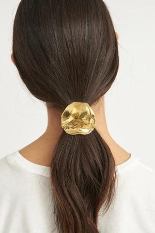 gold hair tie