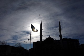1562778696375-Bajram-Pashas-mosque-in-the-center-of-southern-Kosovska-Mitrovica
