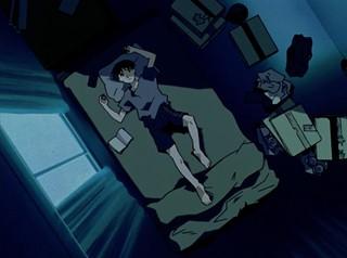 Shinji in bed