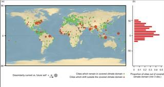 mappa temperatura città 2050