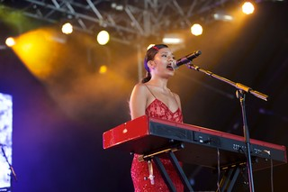 Tara Lily  on the Noisey Stage at Lovebox festival 2019