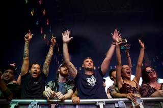 Crowd at Noisey Stage at Lovebox festival 2019
