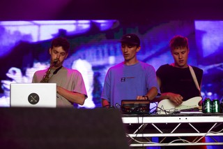 Ross from Friends on the Noisey Stage at Lovebox festival 2019