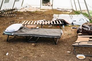 Die Bedingungen im Camp sind katastrophal