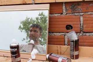 Mesbah, ein 25-jähriger Afghane, der seit einer Woche in Bosnien-Herzegowina ist