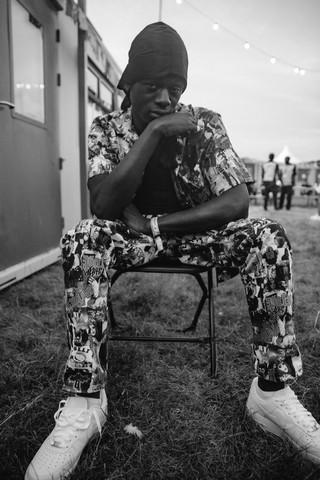 J Hus backstage Lovebox 2019