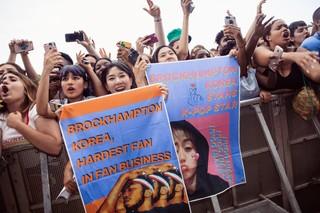 Korean Brockhampton fans at Lovebox 2019